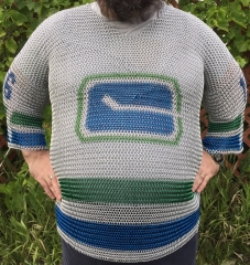 Vancouver Canucks chainmaille jersey front
