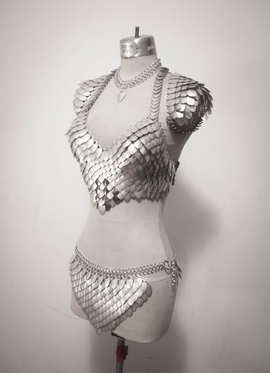 Valkyrie Rider Scalemaille bikini set with spaulders