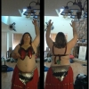 Red belly dance scales