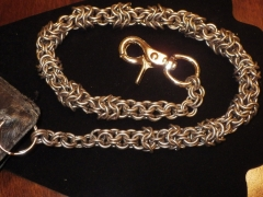 Wallet chain    Round weave to inverted in smaller sections.