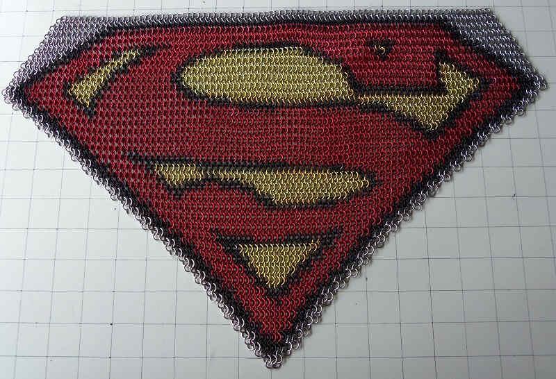superhero logo inlay