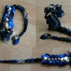 Blue, Black and Silver Itty Bitty Dragon