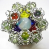 Rollable Chainmaille d12 - Inner Marble