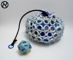 White Icosahedron Dicebag