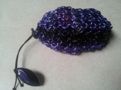 Purple/Black Dice Bag
