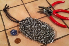 Aith's First Chainmail Dice Bag
