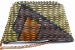 Maille purse with lid open.