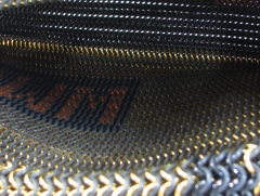 Maille purse inside view.