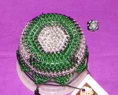 Classic Green Lantern Bag, Bag made by Kittensoft Chainmail