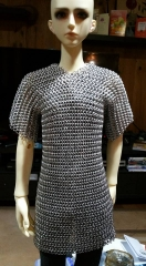 Chain Mail armour on a 70cm doll