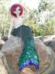 Mermaid tail for 42cm MSD Ball Joint Doll