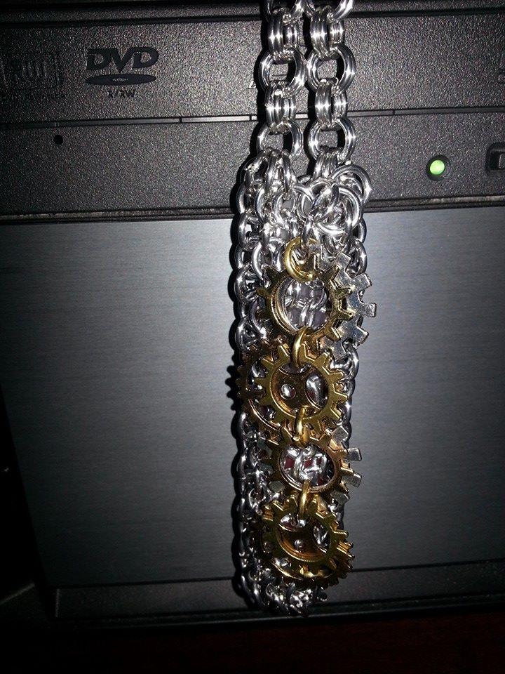 Steampunk glowstick holder