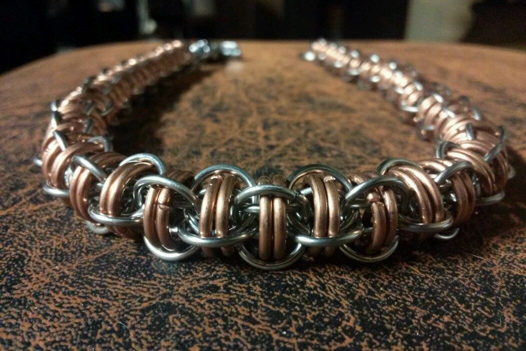 Stainless Steel and Copper Boreworm Wallet Chain