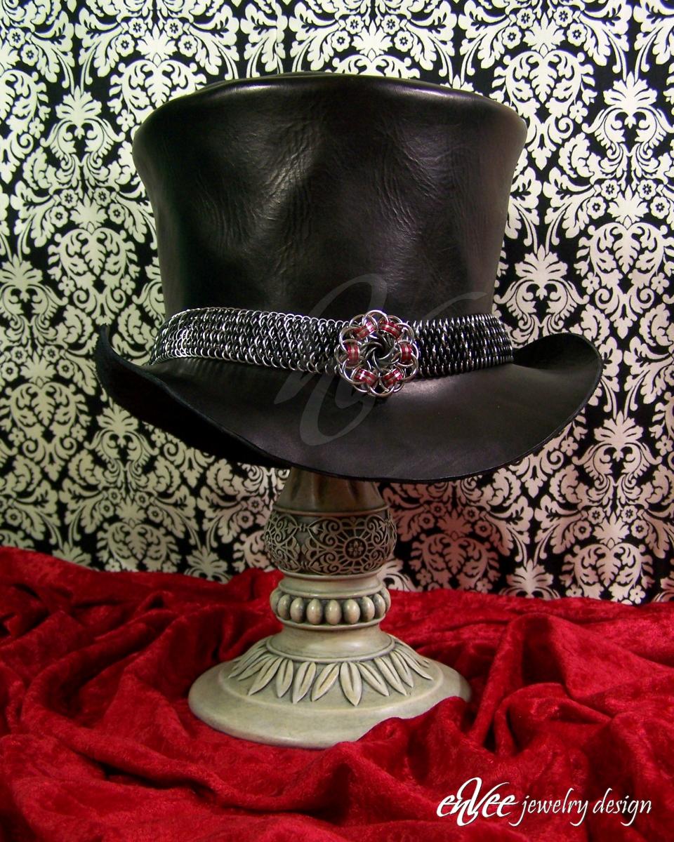 Dragonscale Hat-band w/ Helm Vortex Centerpiece
