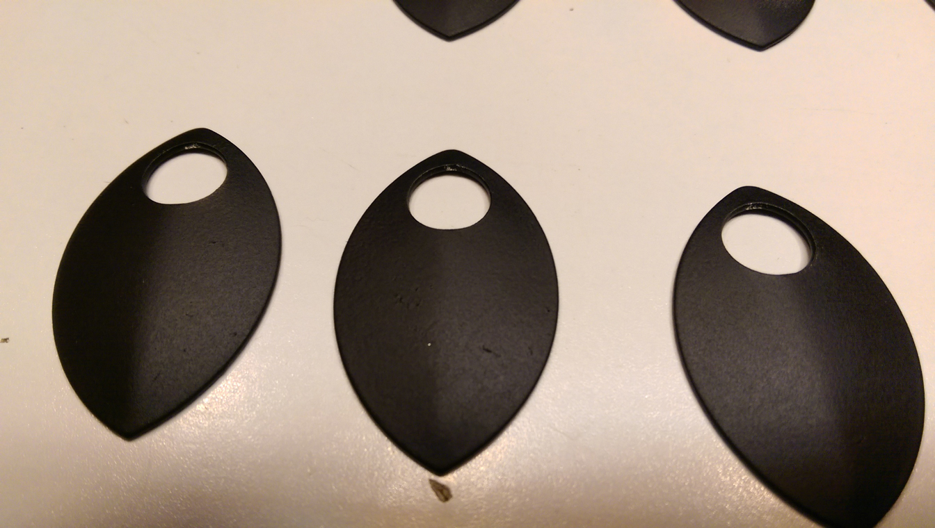 Powder coated scales