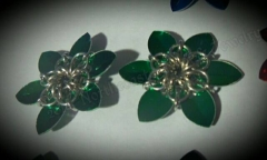 mini scale flower bobby pins