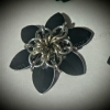 mini scale flower bobby pin