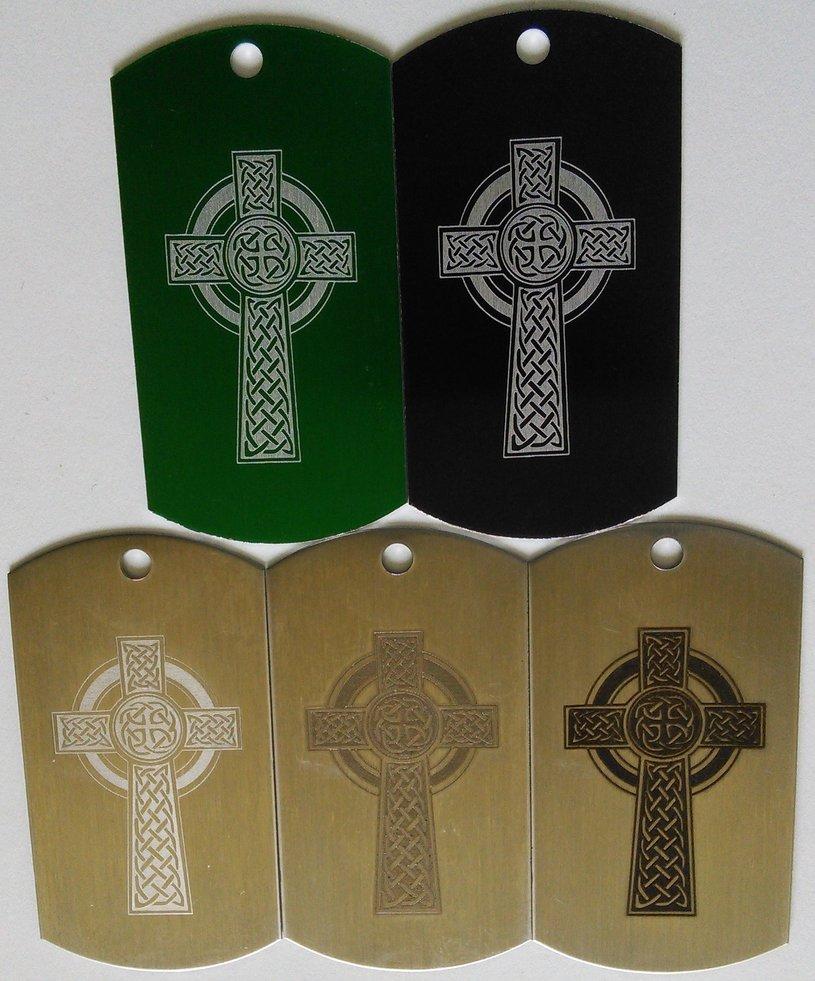 celtic cross dogtags