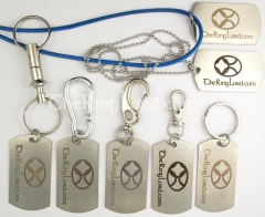 TRL laser engraved stainless dog tags
