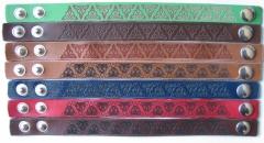 Laser engraved leather bracelets - trinity design