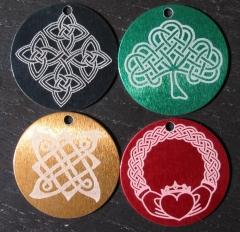 """Laser engraved 1.5"""" Celtic pendants"""