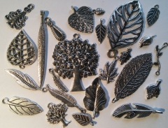 Pewter Leaves and trees