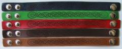 Laser engraved leather bracelets