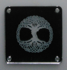 Laser engraved Mirror