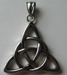 Cast stainless Celtic Triquetra Pendant