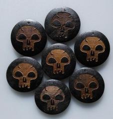 Laser Engraved Wood Skulls