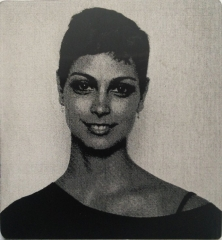 Morena Baccarin - laser engraved from a bitmap