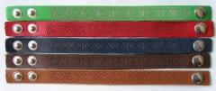 Laser engraved leather bracelets - Celtic Knots