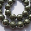 6mm pyrite beads