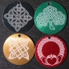 "Laser engraved 1.5"" Celtic pendants"