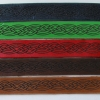 Laser engraved leather bracelets