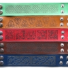 Laser engraved Leather Bracelets with Celtic patterns
