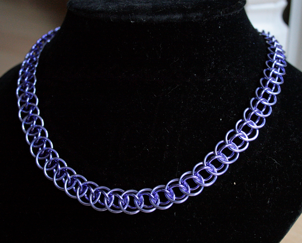 Lavender and Purple Dragon Tail Necklace