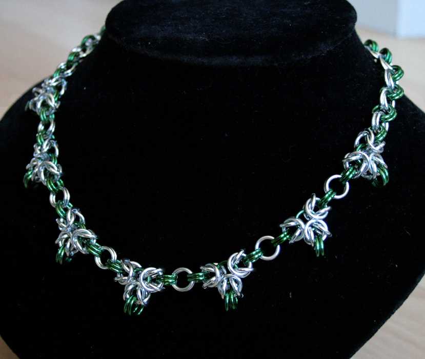 Silver and Green Triple Point Byzantine