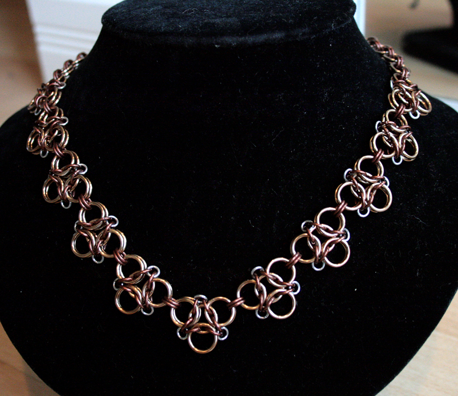 Champagne and Bronze Aura 3 Necklace