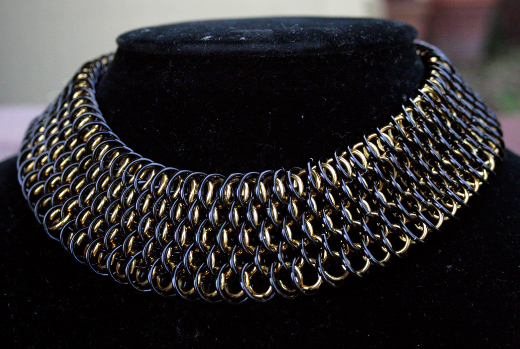Black and Gold Dragonscale Choker - Necklaces - TheRingLord