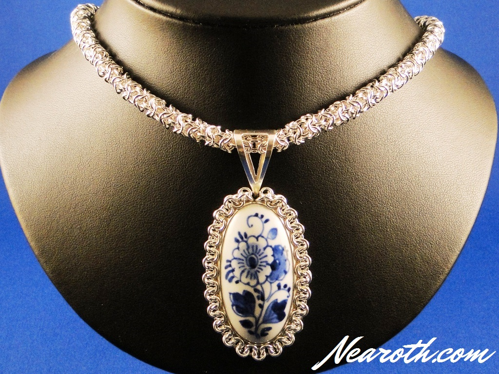 Delft Blue Pendant and Chain