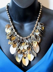 Industrial Rain of Scales Necklace