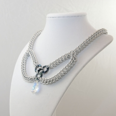 Full Persian and Swarovski Bow Necklace
