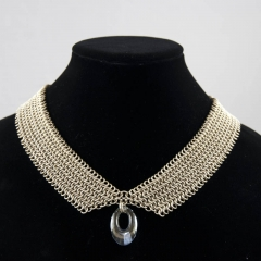 Collar Necklace - Nickel Silver and Swarovski