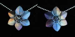 Hand Anodized Titanium Scale Flowers