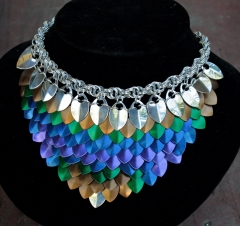 Peacock Scale Necklace