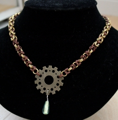 Byzantine Gear Necklace