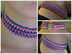 Cotton candy ribbon maille choker.