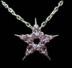 Pink Captive Star Pendant