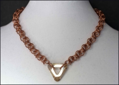 Copper Velo with Golden Shadow Swarovski Triangle